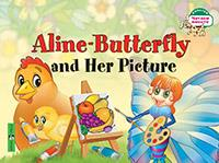 Aline-Butterfly and Her Picture = Бабочка Алина и ее картина